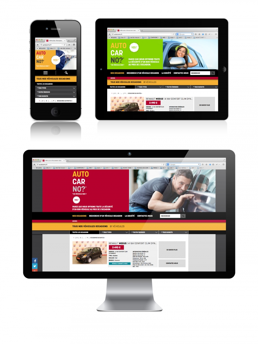site internet en responsive design Autocarno