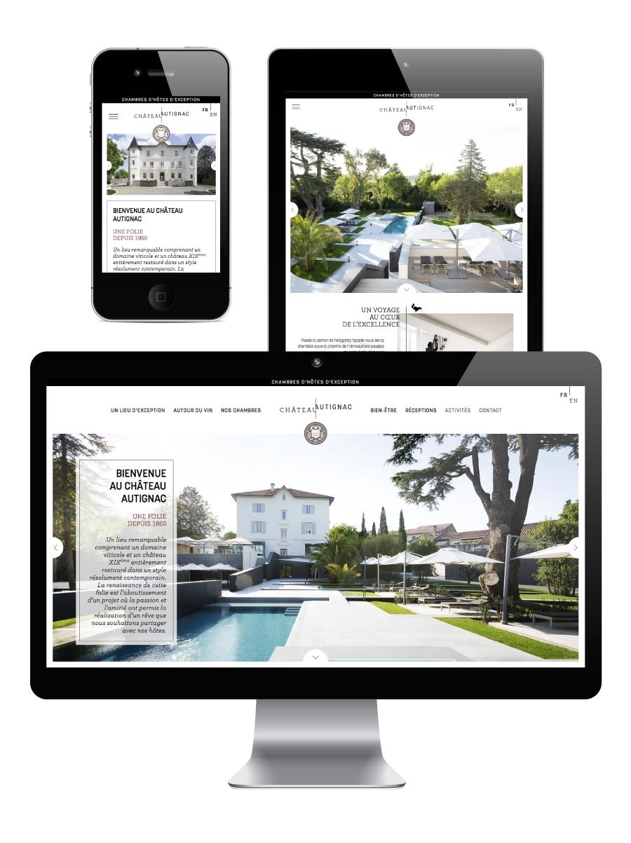 site internet château Autignac agence-s