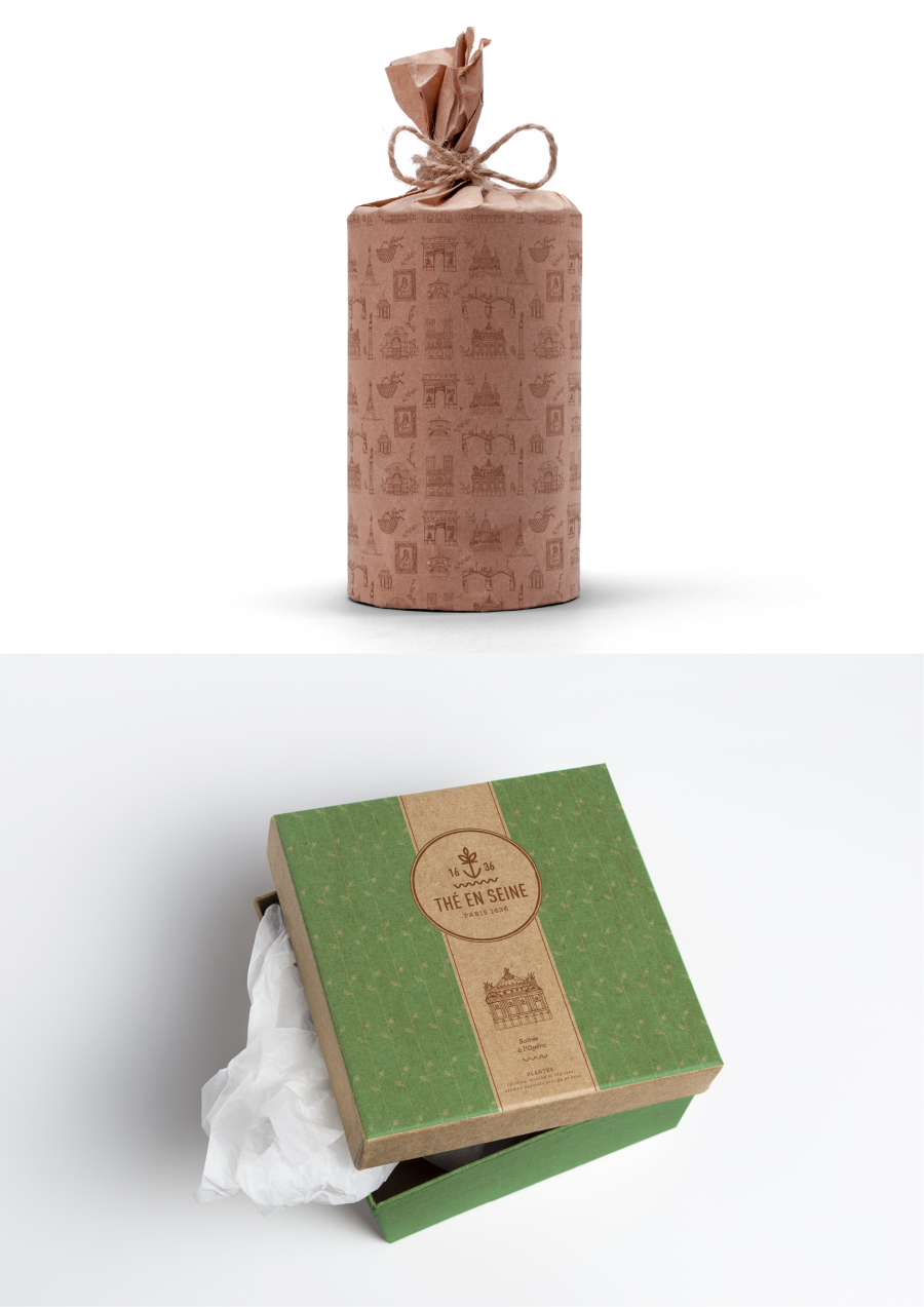 packaging thé george cannon