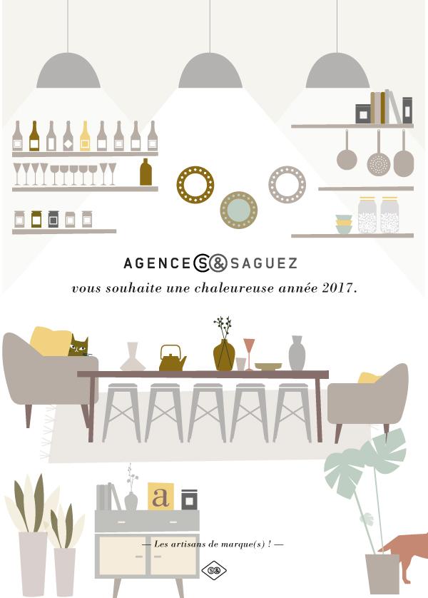 carte de vœux Agence-S & Saguez
